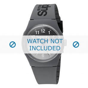 Superdry bracelet de montre SYG198EE Plastique Gris