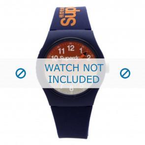 Superdry bracelet de montre SYG198UO Plastique Bleu
