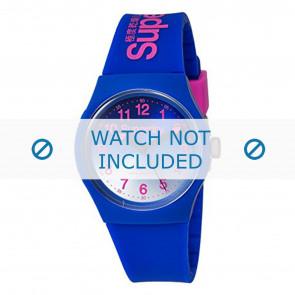 Superdry bracelet de montre SYG198UU Plastique Bleu