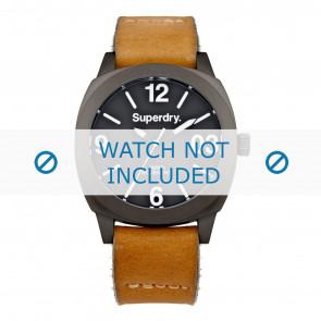 Superdry bracelet de montre SYL116TT Cuir Cognac + coutures défaut