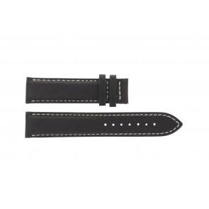 Tissot bracelet de montre T014.410.16.037.00 - T610025416 Cuir Brun foncé 19mm + coutures blanches