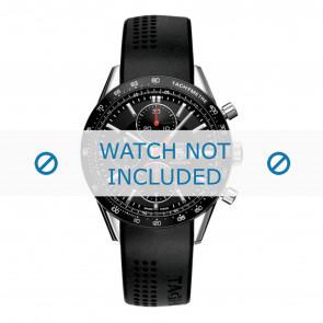 Tag Heuer bracelet de montre CV2014-FT6014-BT6015 20x3mm Caoutchouc Noir 20mm