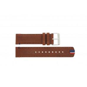 Tommy Hilfiger bracelet de montre TH-248-1-14-1685 / TH679301739 Cuir Brun + coutures brunes
