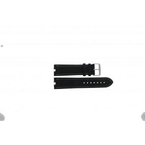 Tommy Hilfiger bracelet de montre TH-38-1-14-0686 ALT 307.01 Cuir Noir 24mm + coutures blanches