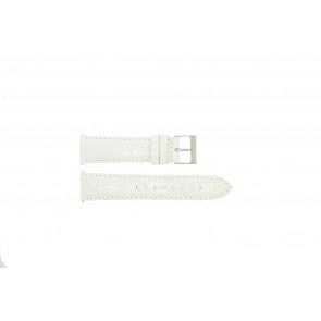 Guess bracelet de montre W85053G2 / W10558L1 Cuir Blanc 22mm