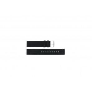 Bracelet de montre 21901.01.18 / 6826 Silicone Noir 18mm