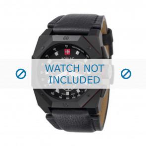 Zodiac bracelet de montre ZO1800 Cuir Noir + coutures noires