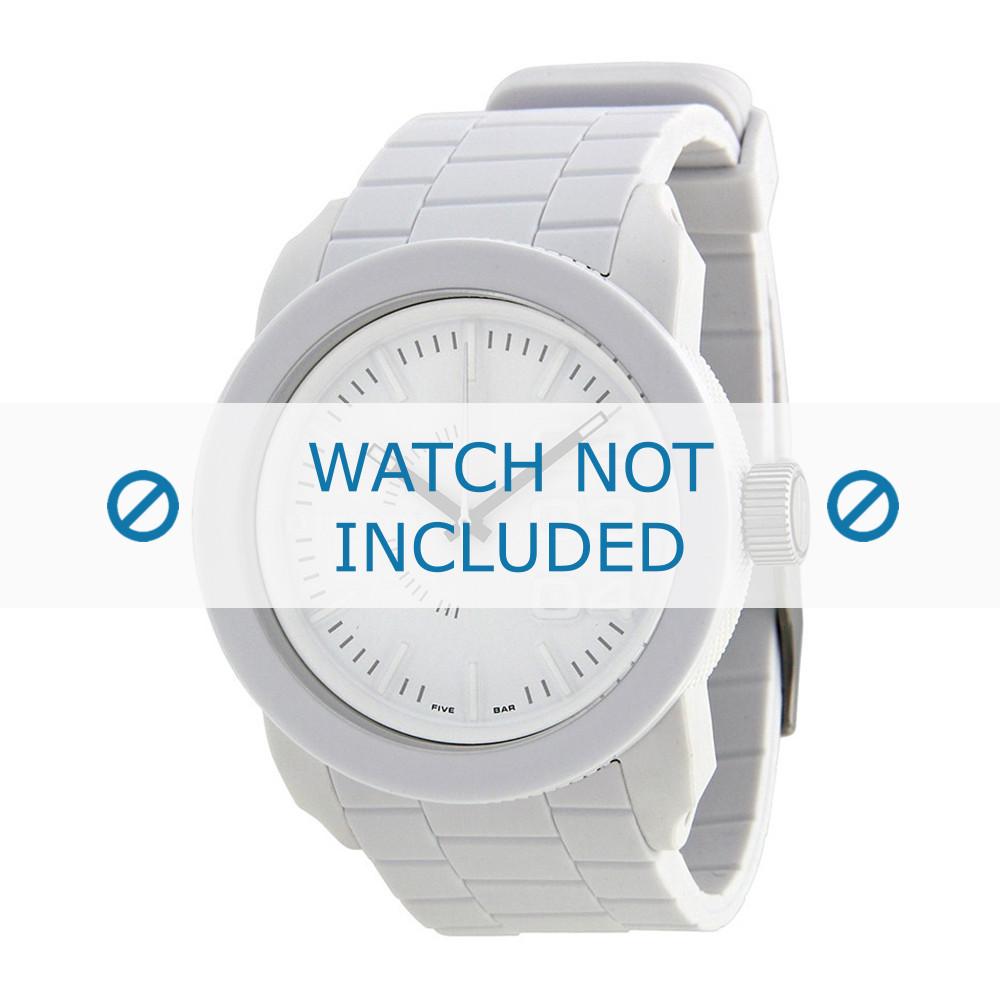 1a196d57de04 Diesel bracelet de montre DZ1436   DZ1439   DZ1437   DZ1438 Silicone Blanc  24mm