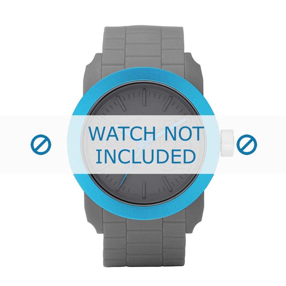 36e0a42ca7d9 Bracelet de montre Diesel DZ1458 Silicone Gris 24mm