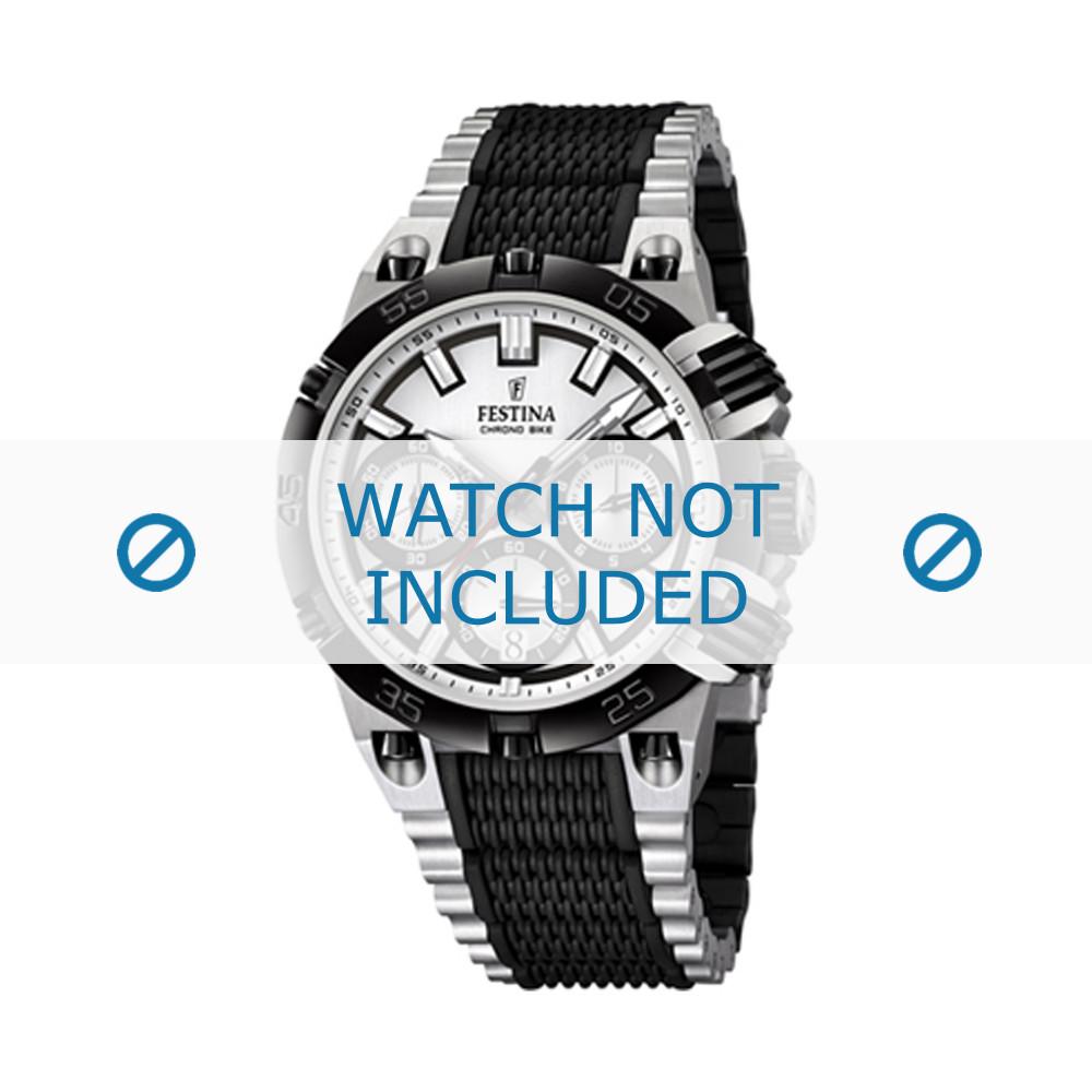 4e5d996d634be Festina bracelet de montre F16775 Acier inoxydable Noir 17mm
