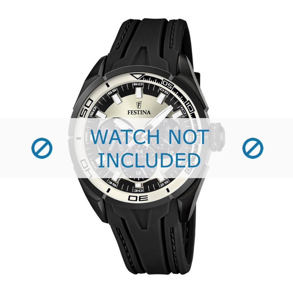9864d60480d30 Bracelet de montre Festina F16610-1 Caoutchouc Noir 23mm