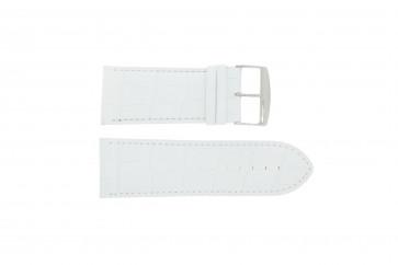 Bracelet de montre Universel 305R.09 Cuir Blanc 26mm