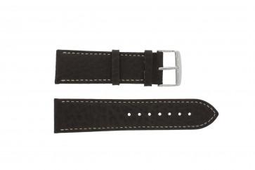 Bracelet de montre 307.02 Cuir Brun 18mm + coutures blanches