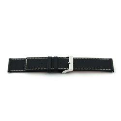 Bracelet de montre Universel H110 Cuir Noir 22mm