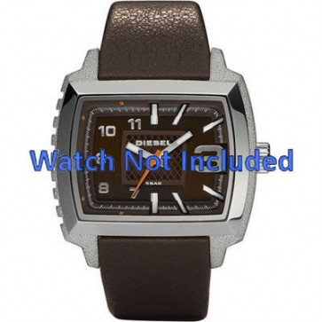 Diesel bracelet de montre DZ1364 Cuir Brun foncé 25mm