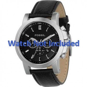 Bracelet de montre Fossil FS4247 Cuir Noir 22mm