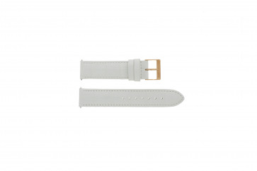 Bracelet de montre Guess W17516L1 Cuir Blanc 20mm