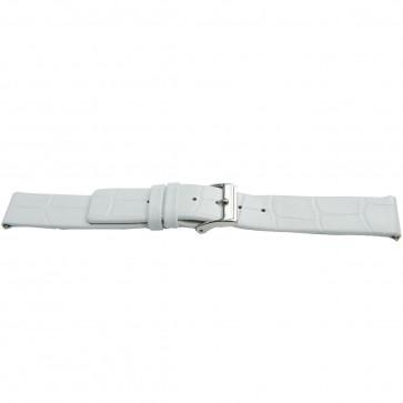 Bracelet de montre Bison 22mm blanc J-53