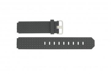 Bracelet de montre Jacob Jensen 400 / 410 / 411 / 412 Caoutchouc Noir 17mm