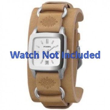 Bracelet de montre Fossil JR8300 Cuir Brun 16mm