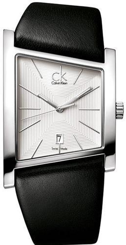 Bracelet de montre Calvin Klein K0Q211   K0Q21107   K0Q21120 (K60000022)  Cuir Noir 28mm 0be456ffe8e
