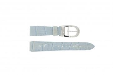 Bracelet de montre WoW LEDER-BLAUW-18 Cuir Bleu 18mm