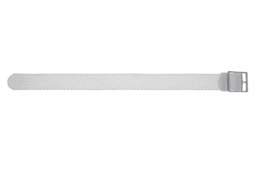 Bracelet de montre WoW PERLON-18-WIT Nylon Blanc 18mm