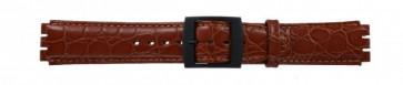 Bracelet de montre pour Swatch brun croco 17mm PVK SC10.03