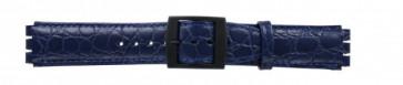 Bracelet de montre Swatch SC10.05 Cuir Bleu 17mm
