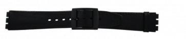 Bracelet de montre pour Swatch noir 16mm PVK SC15.01