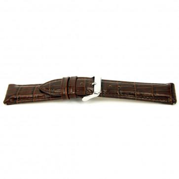 Bracelet de montre I035 XL Cuir Brun 24mm + coutures défaut