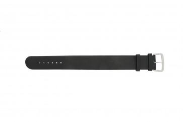 Bracelet de montre Danish Design IV13Q676 / IV12Q676 Cuir Noir 24mm