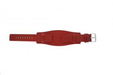 Davis bracelet de montre B0223 Cuir Rouge 20mm