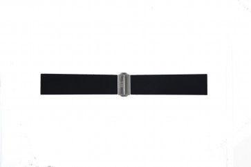 Bracelet de montre Davis BB0881 Caoutchouc Noir 22mm