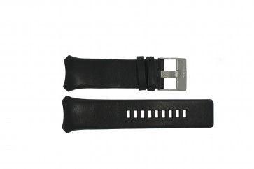 Diesel bracelet de montre DZ-3034 / DZ-3035 Cuir Noir 31mm