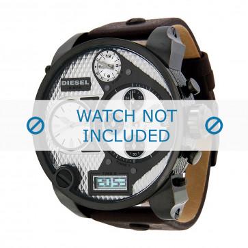 Bracelet de montre Diesel DZ7126 Cuir Brun foncé 29mm