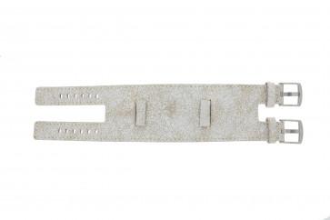 EXC bracelet de montre K6354264 Cuir Blanc 24mm