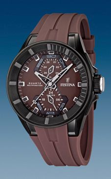 Festina bracelet de montre F16612/2 En caoutchouc Brun 18mm