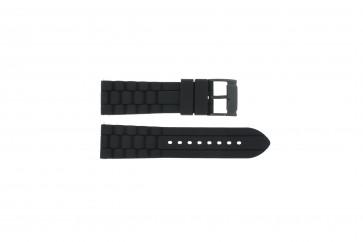 Fossil bracelet de montre FS4487 / FS4628 / FS4605 Silicone Noir 24mm