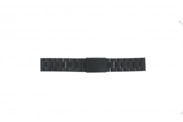 Fossil bracelet de montre CH2816 Métal Noir 20mm