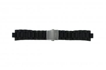 Guess bracelet de montre I15056L1 / I11040L1 / I11005G2  Plastique Noir 22mm