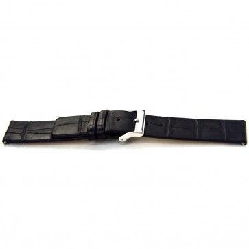 Bracelet de montre Bison 20mm noir J-53