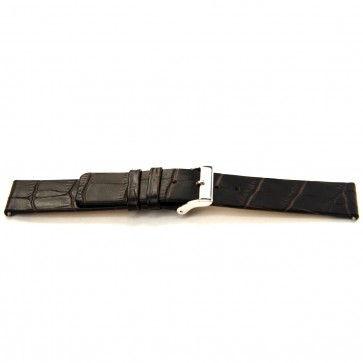 Bracelet de montre Bison 22mm brun foncé J-53