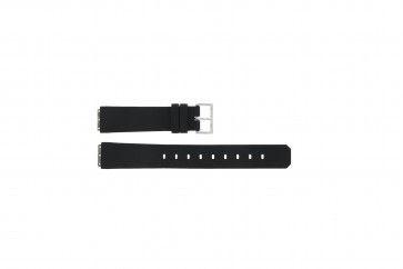 Bracelet de montre Jacob Jensen 130 square Caoutchouc Noir 15mm