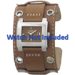 Fossil bracelet de montre JR8149 Cuir Brun 18mm + coutures défaut
