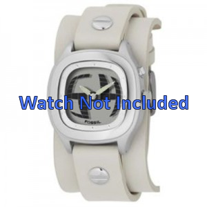 Bracelet de montre Fossil JR8224 Cuir Beige 16mm