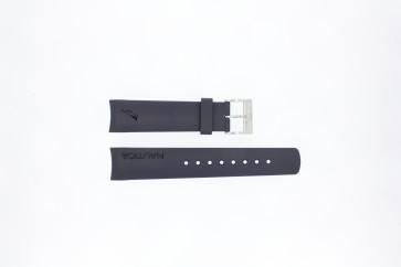 Bracelet de montre Nautica A18640G / A30004G / A12627G / A12627G Caoutchouc Bleu 22mm