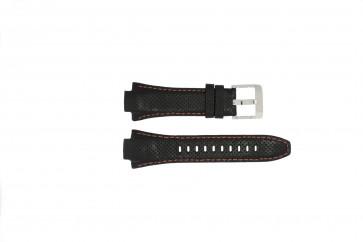 Bracelet de montre Seiko 7L22-0AE0 / SNL017P1 / 4KG8JZ /SNL021P9 Cuir Noir 15mm