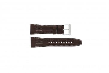 Seiko bracelet de montre 5D44-0AE0 / SRH011P1 Cuir Brun 26mm + coutures blanches