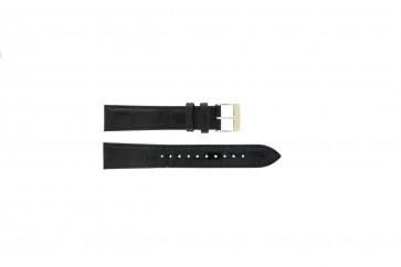 Seiko bracelet de montre 7N32-0DE0 Cuir Noir 18mm
